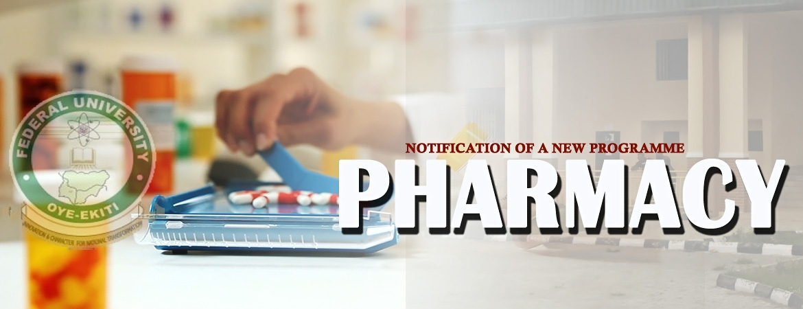 NOTIFICATION OF A NEW PROGRAMME – PHARMACY